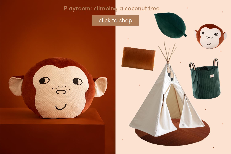 Playroom: climbing a coconut tree