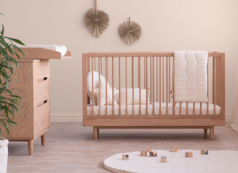 habitación de bebé zen