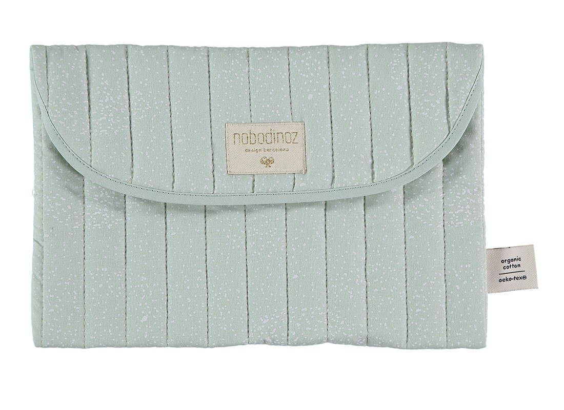 Estuche Bagatelle 19x27 white bubble/ aqua