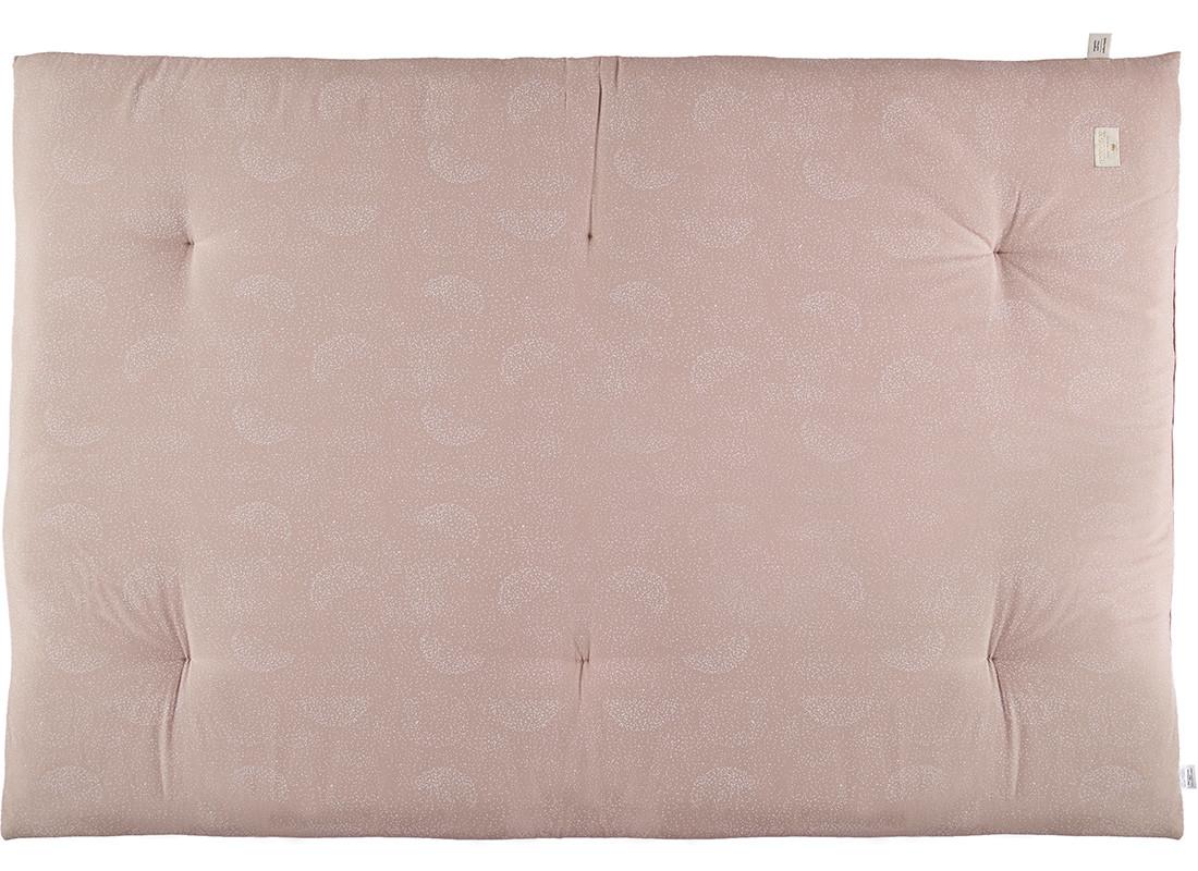 Futon Eden 148x100x6 white bubble/ misty pink