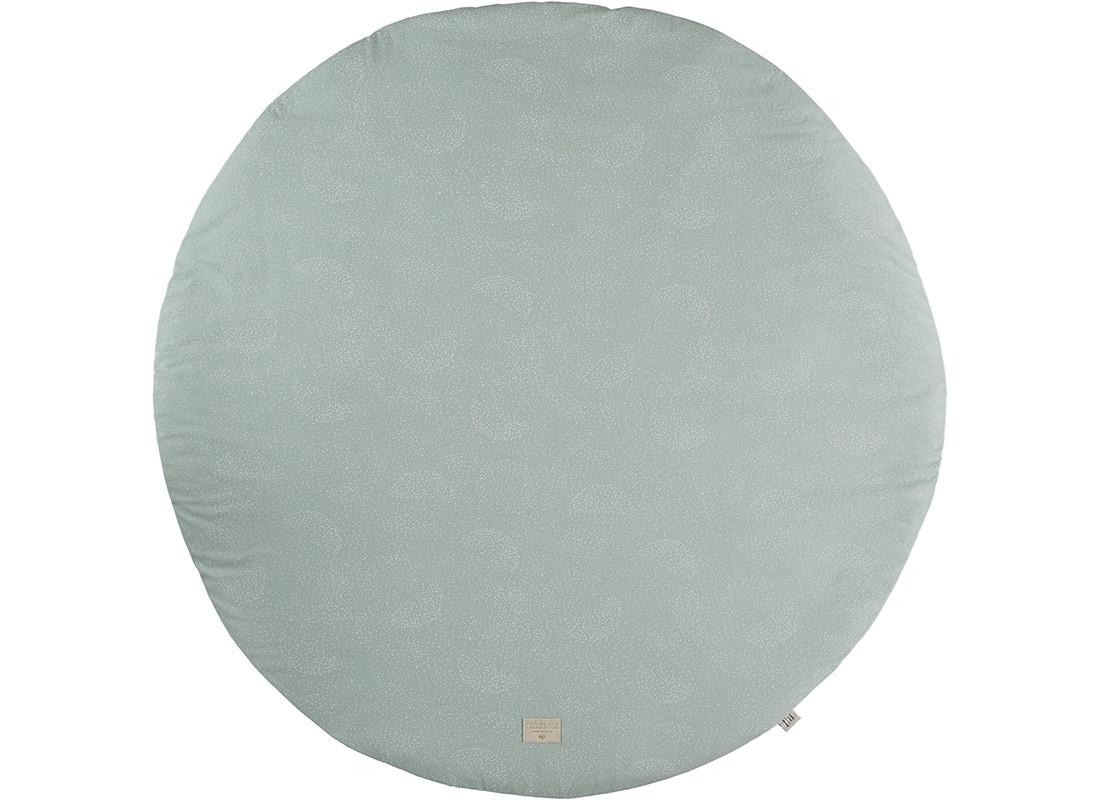 Alfombra de juego redonda Full Moon small 105x105 white bubble/ aqua