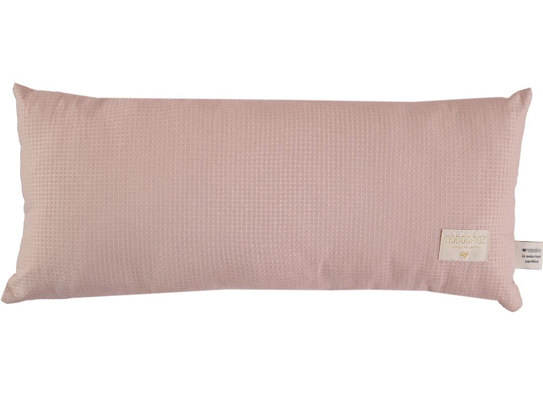 Cojin Hardy nido de abeja 22x52 misty pink