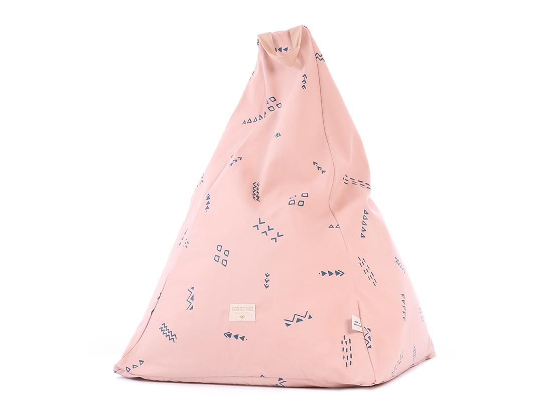 Puf Keops 65x50x50 blue secrets/ misty pink