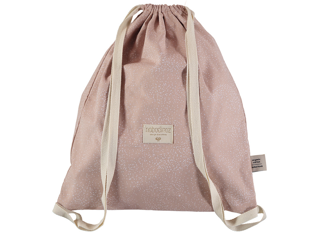 Mochila Koala 40x34 white bubble/ misty pink