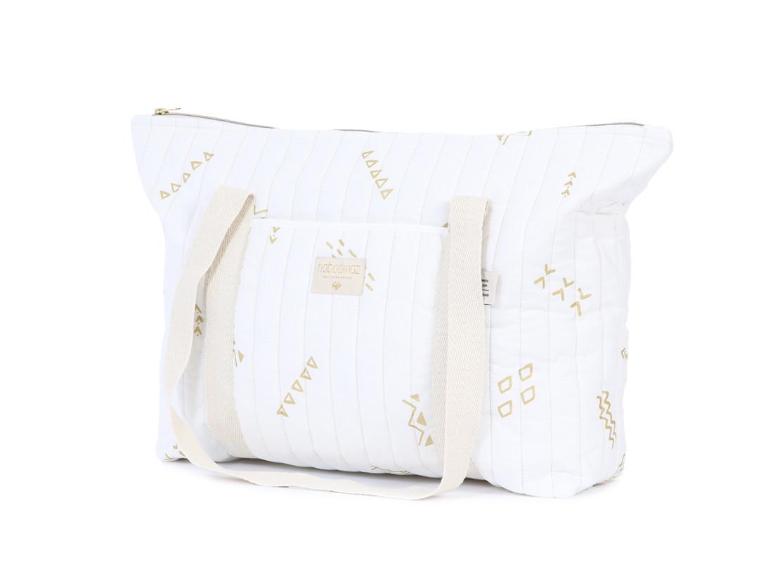 Bolsa de maternidad Paris 34x50x12 gold secrets/ white