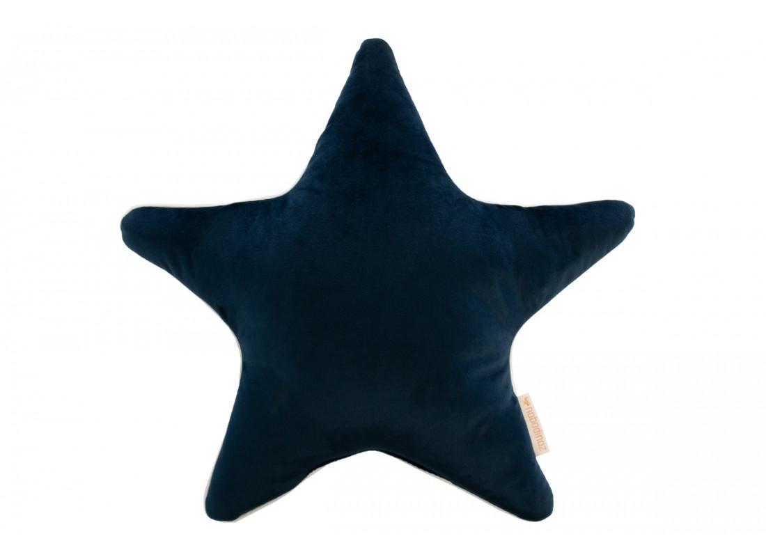 Aristote star velvet cushion night blue