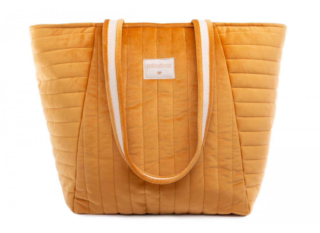 Savanna velvet Maternity Bag farniente yellow