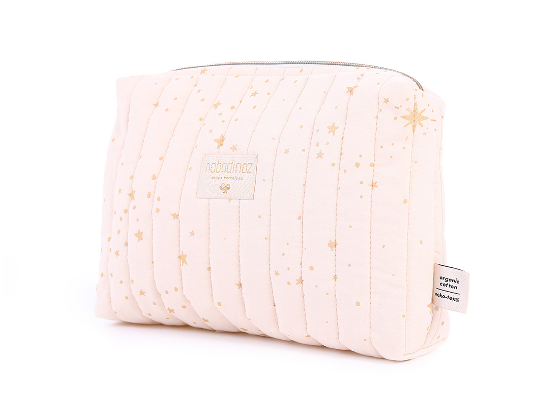 Neceser Travel 18x25x7 gold stella/ dream pink