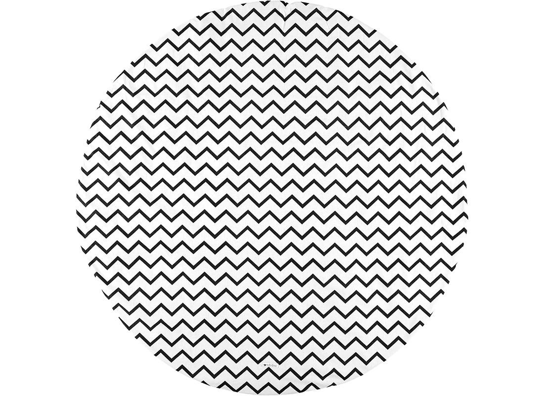 Alfombra Apache zigzag negro - S
