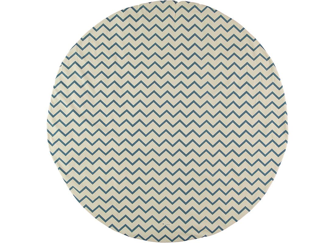 Alfombra Apache zigzag azul-S