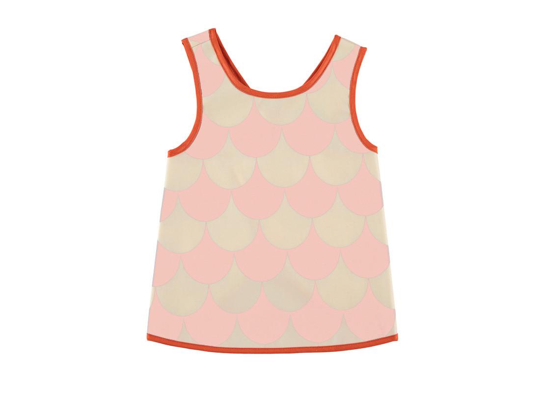 delantal calabria escamas rosas - 2 tallas