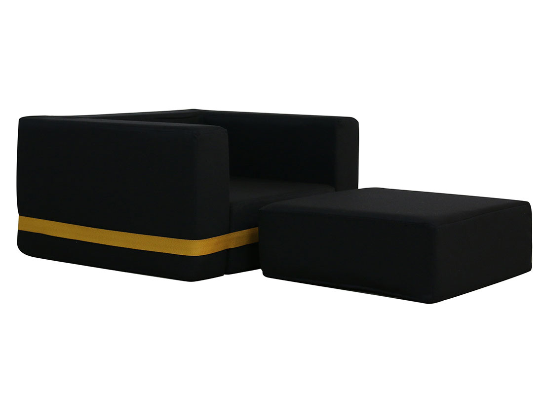 black brooklyn armchair