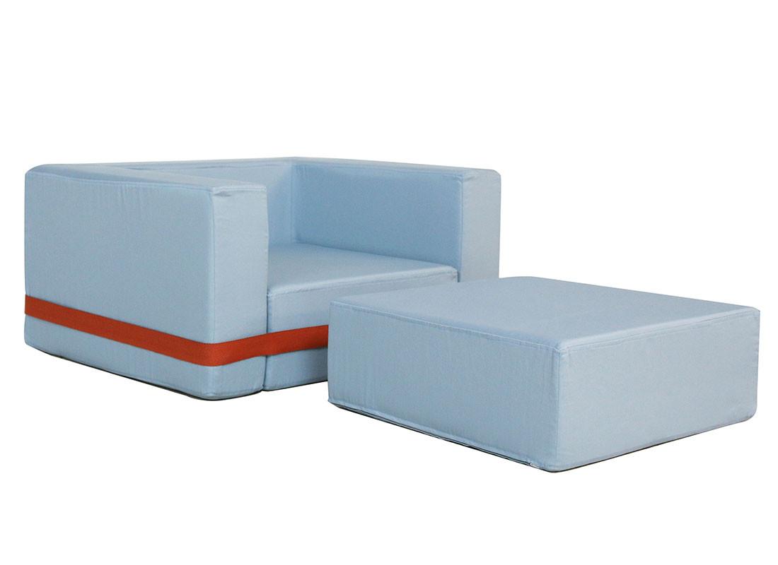 thalassa blue brooklyn armchair