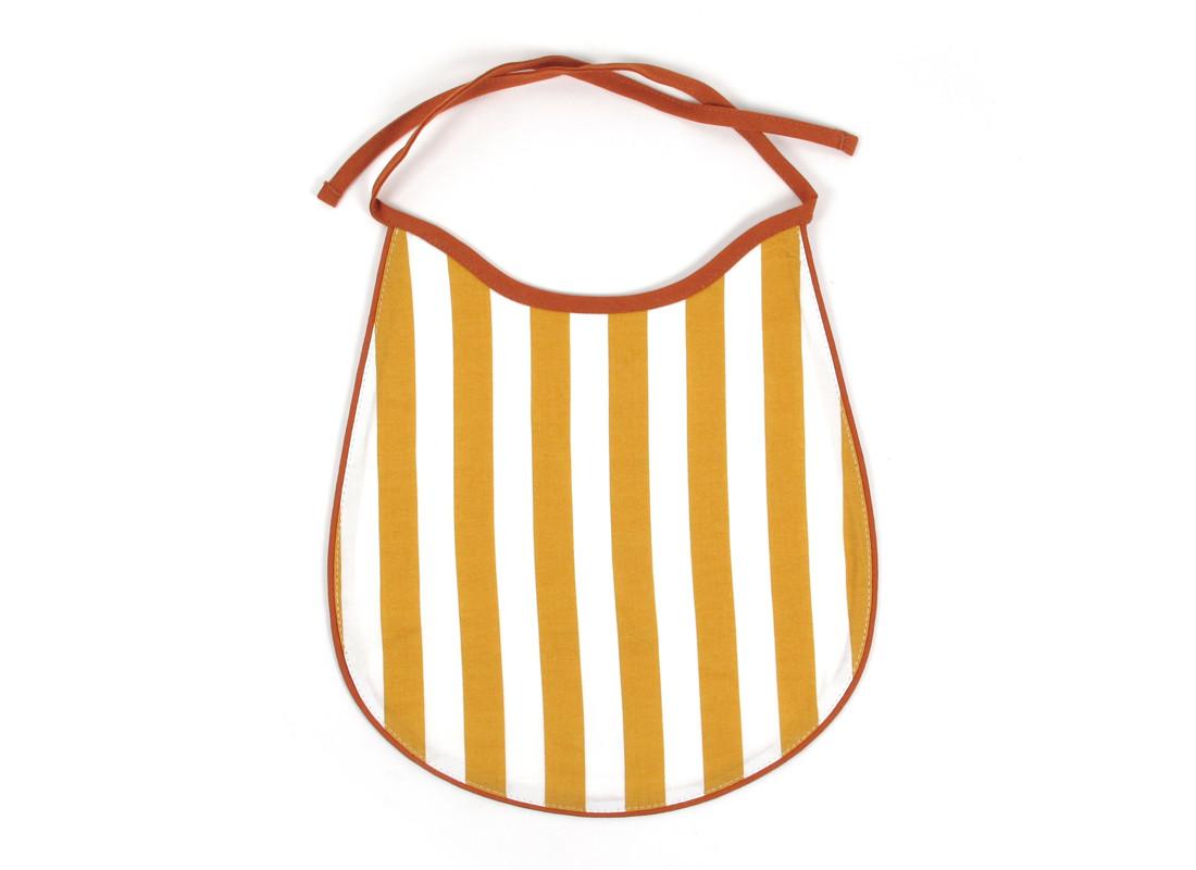Babero Garfield 26x24 rayas miel