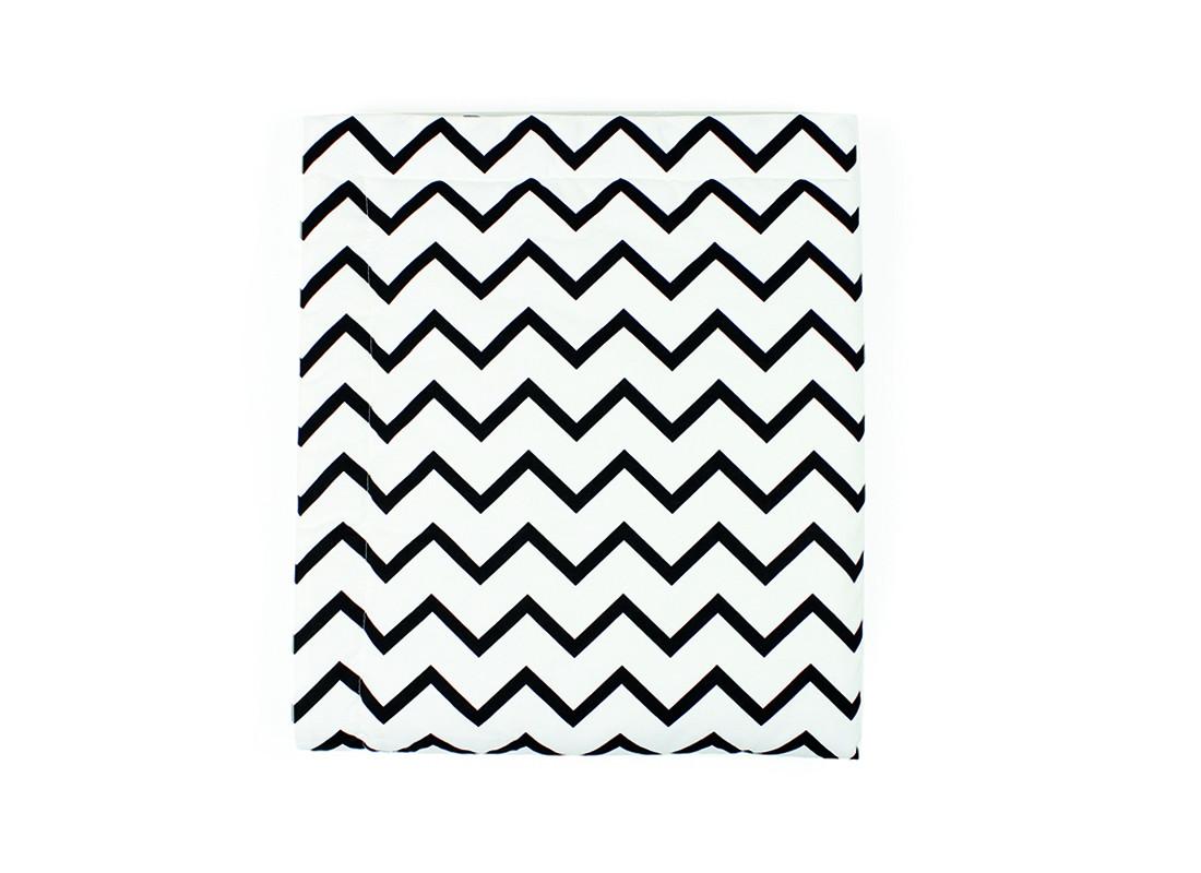 Manta copenhague zigzag negro -  3 tallas-L