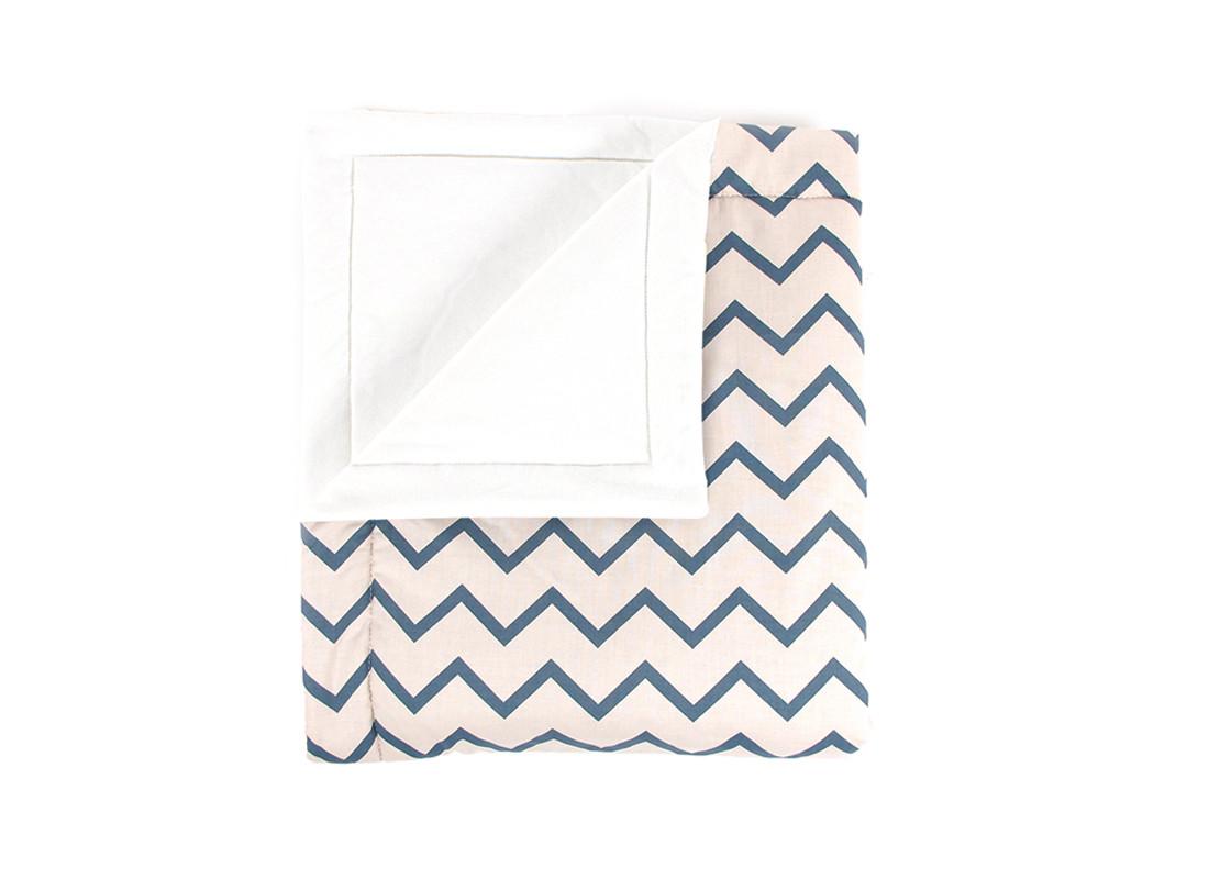 Blanket Copenhague zigzag azul – Mini