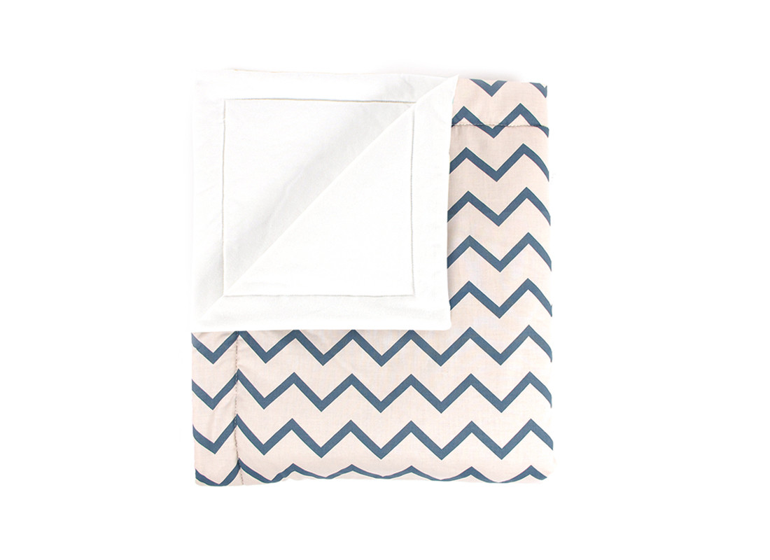 Blanket Copenhague zigzag azul – adulto