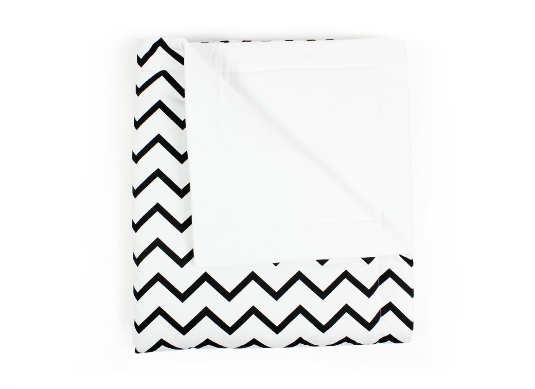 Manta Copenhague zig zag negro - 2 tallas