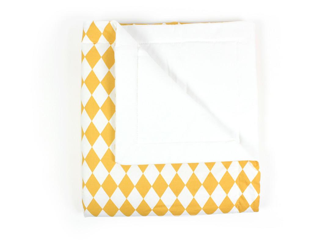 Manta Copenhague rombos miel - 2 tallas