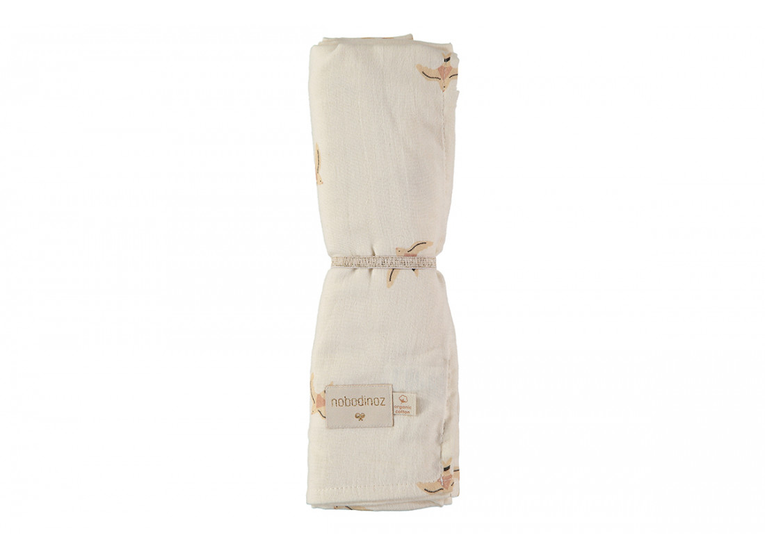 Butterfly swaddle 100x120 nude haiku birds/ natural