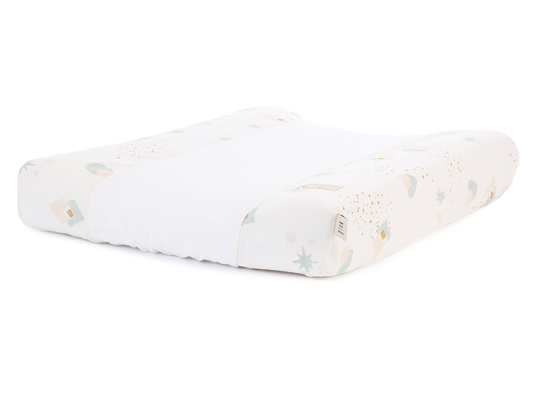 Cambiador impermeable Calma & funda 70X50 aqua eclipse/ white