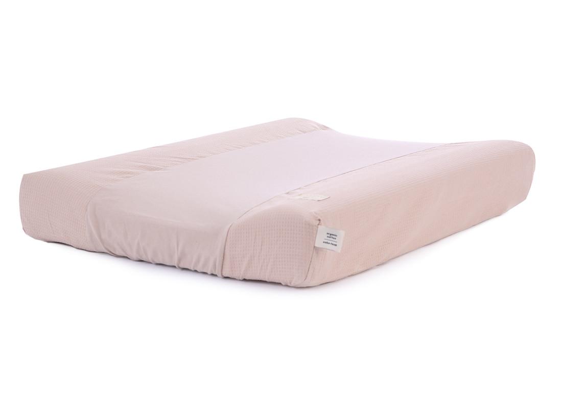 Cambiador impermeable Calma & funda nido de abeja 70X50 misty pink