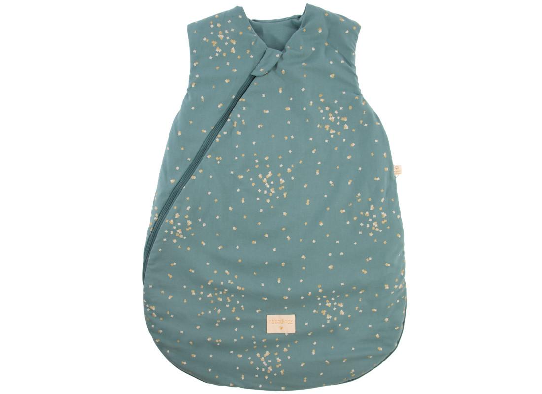 Saco de dormir de entretiempo Cocoon gold confetti/ magic green - 2 tallas