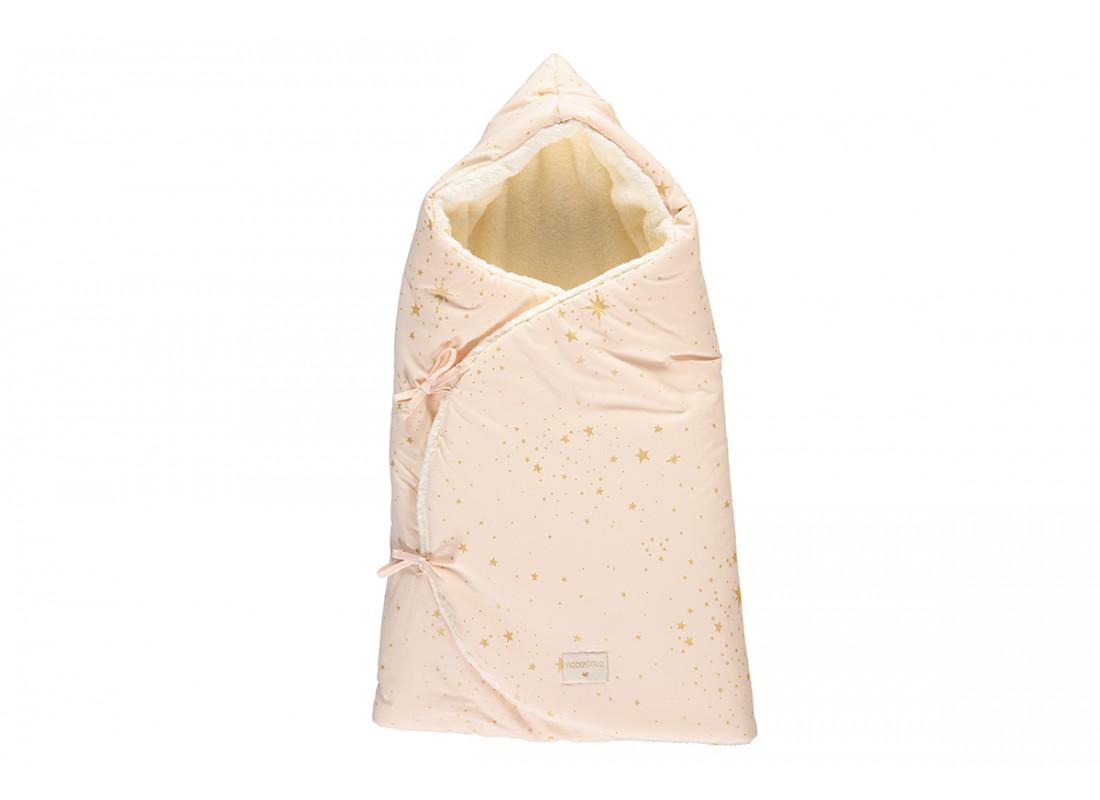 Cozy winter baby nest bag 0-3 M gold stella/ dream pink