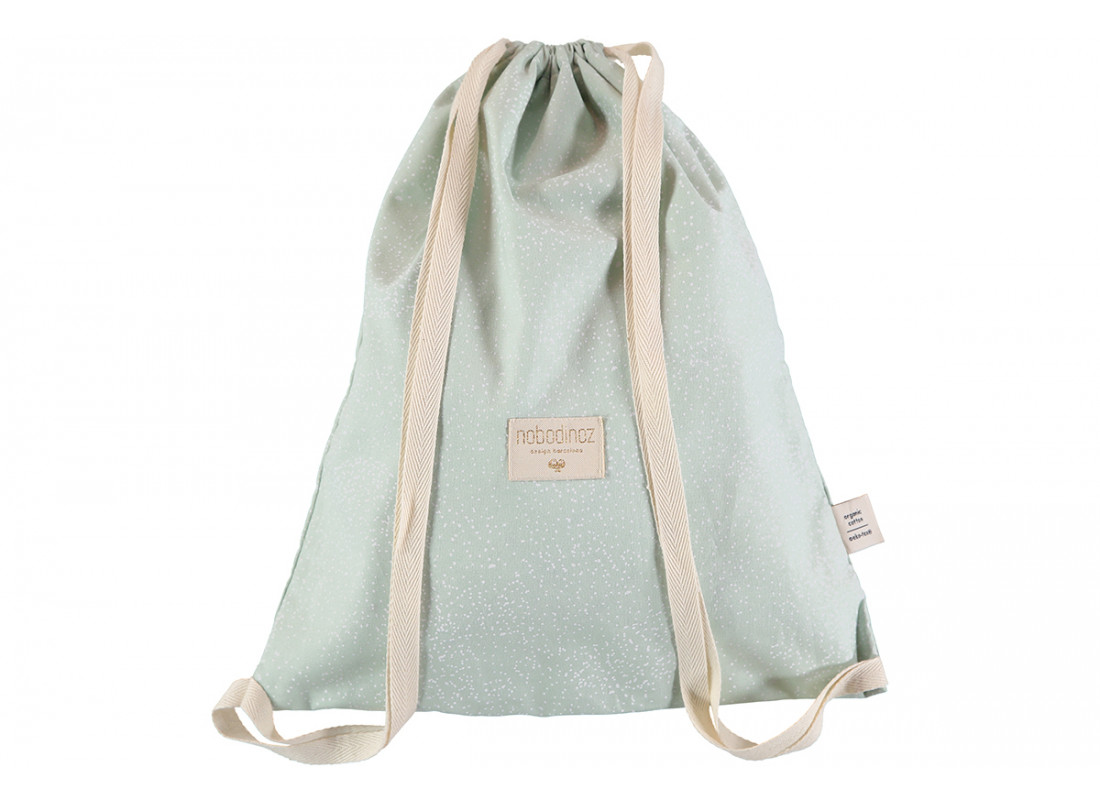 Mochila Koala 40x34 white bubble/ aqua