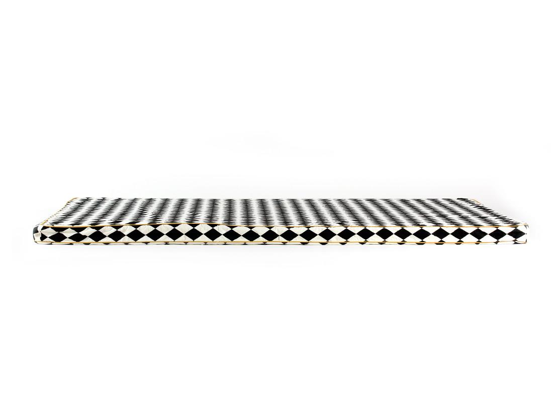 Colchoneta de suelo Saint Tropez 120x60x4 rombos negros