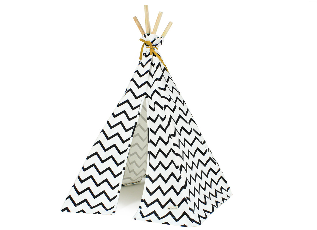 Mini tipi Arizona 66x67 zig zag negro