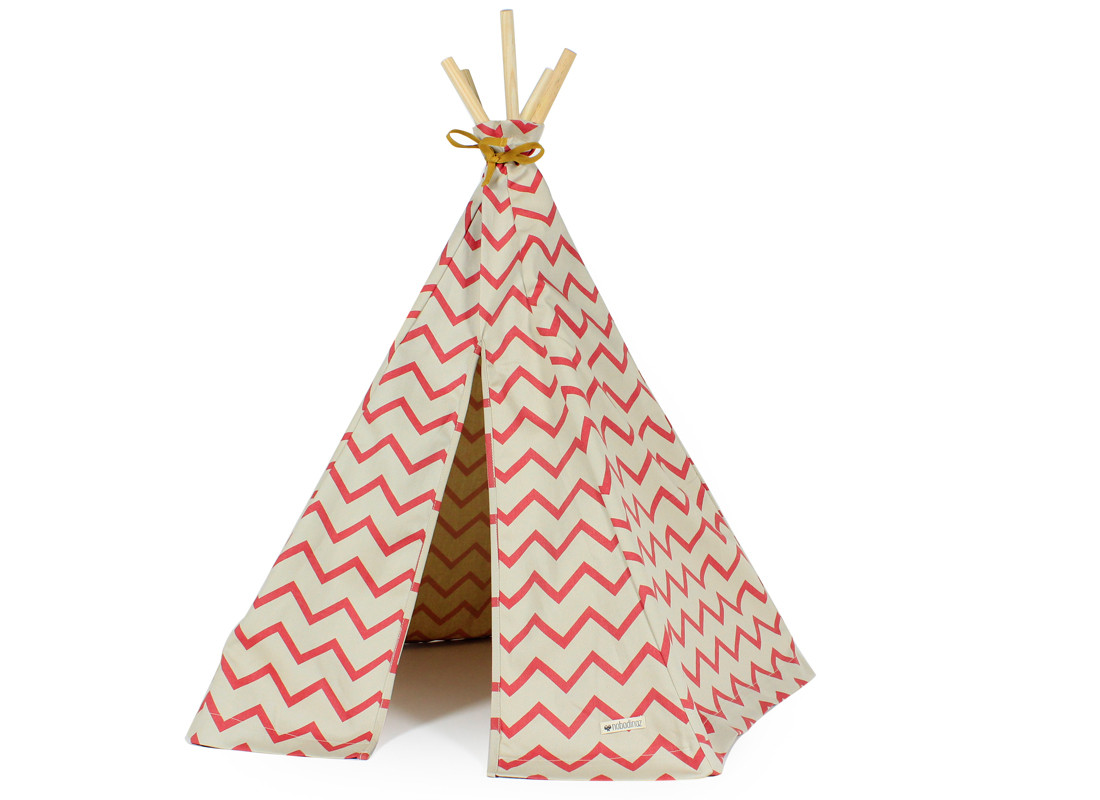 Mini tipi Arizona 66x67 zig zag rosa