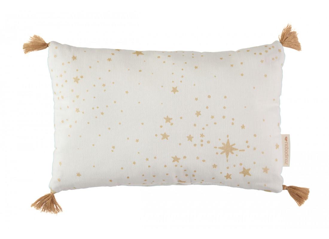 Cojín Sublim 20x35 gold stella/ white