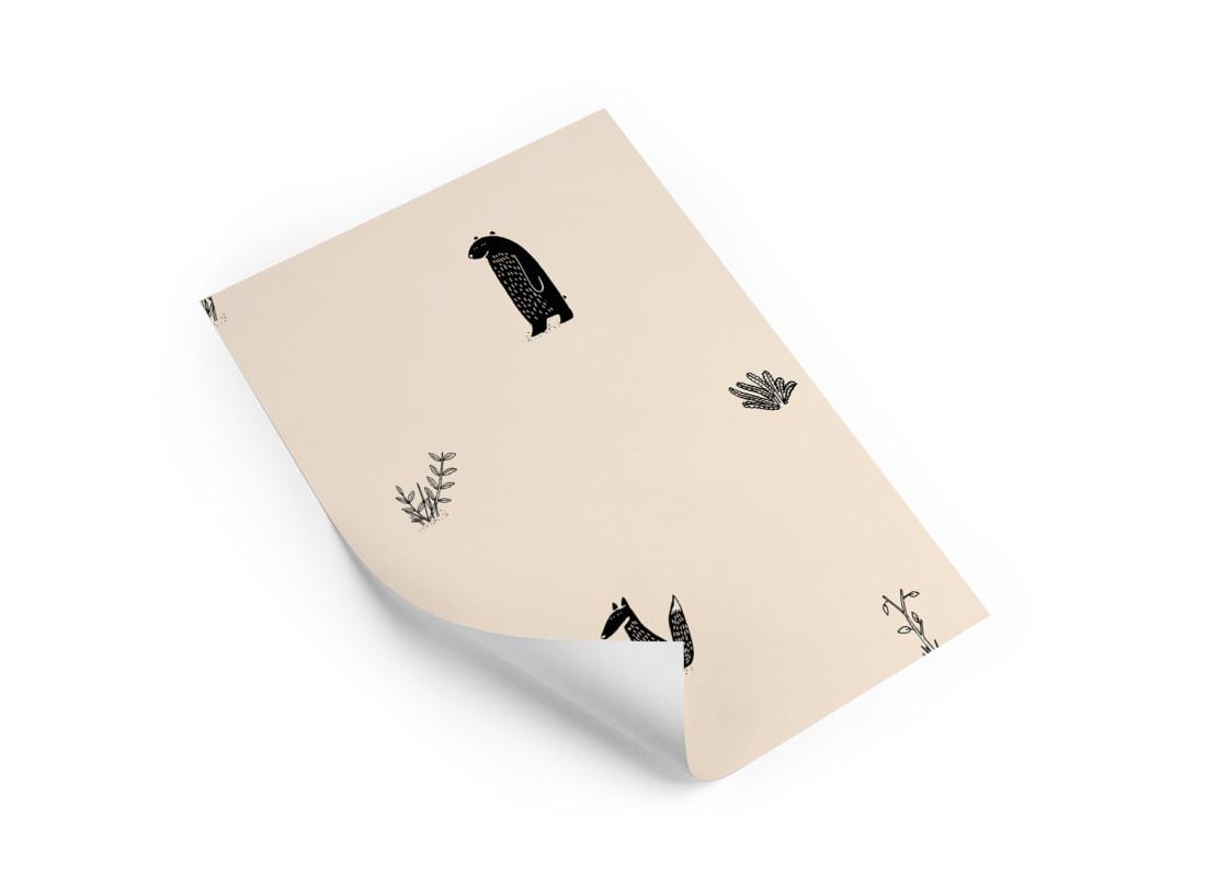 Muestra de papel pintado • Jon & June sand