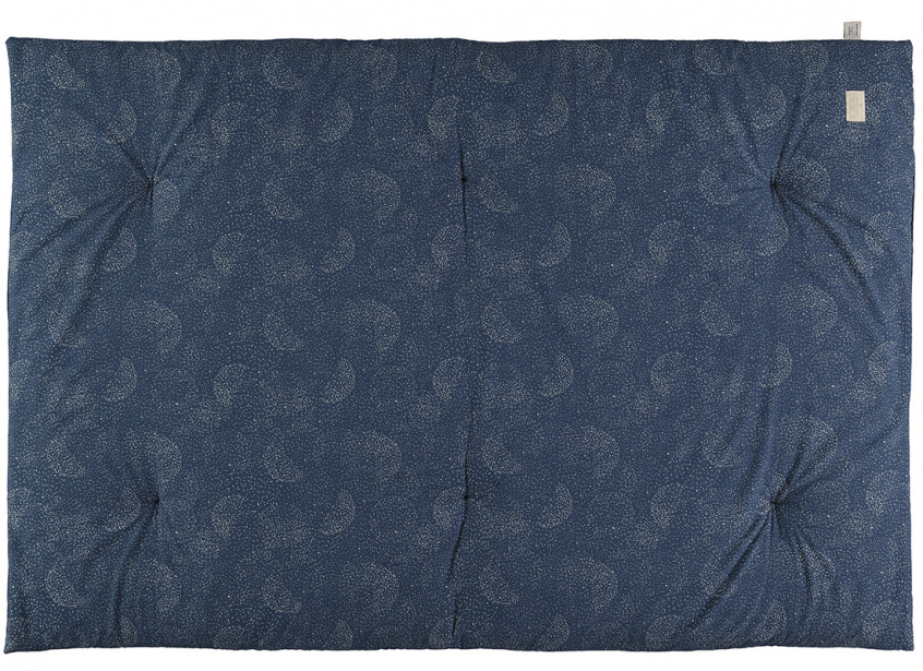 Futon Eden 148x100x6 gold bubble/ night blue