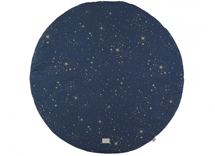 Alfombra de juego redonda Full Moon small 105x105 gold stella/ night blue