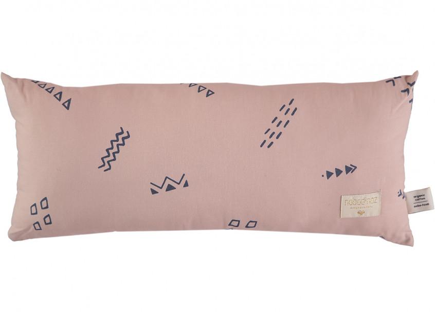 Cojin Hardy 22x52 blue secrets/ misty pink