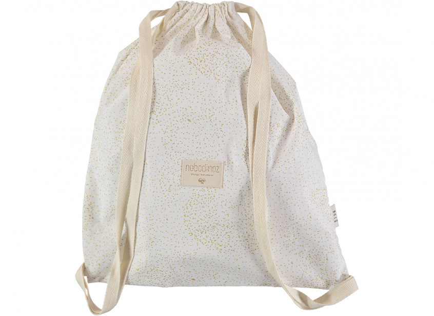 Mochila Koala 40x34 gold bubble/ white