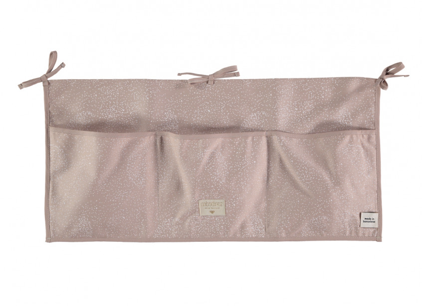Organizador de cuna Merlin 30x60 white bubble/ misty pink