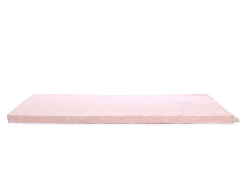Colchoneta de suelo Saint Barth 60X120X4 white bubble/ misty pink