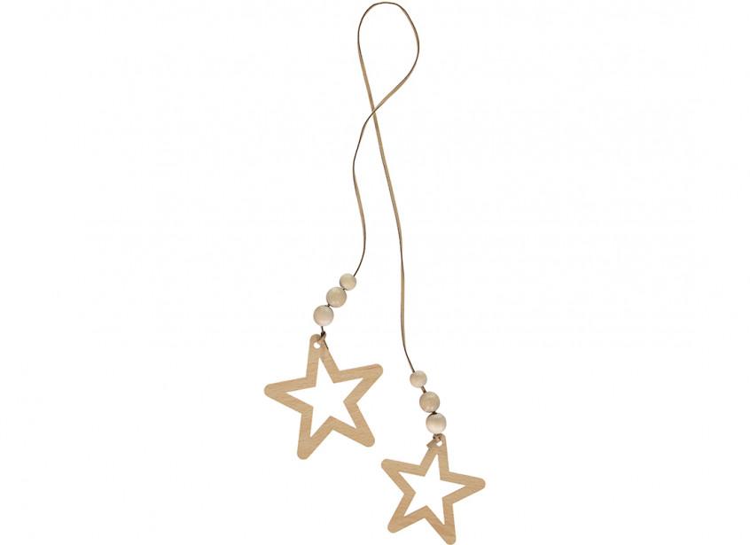 Guirnalda estrella duo 85cm natural