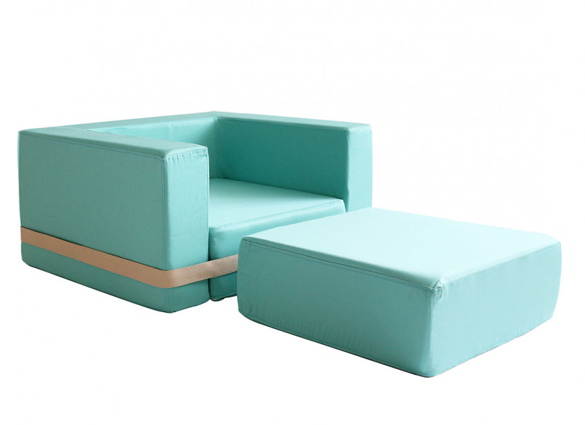 tropical green brooklyn armchair