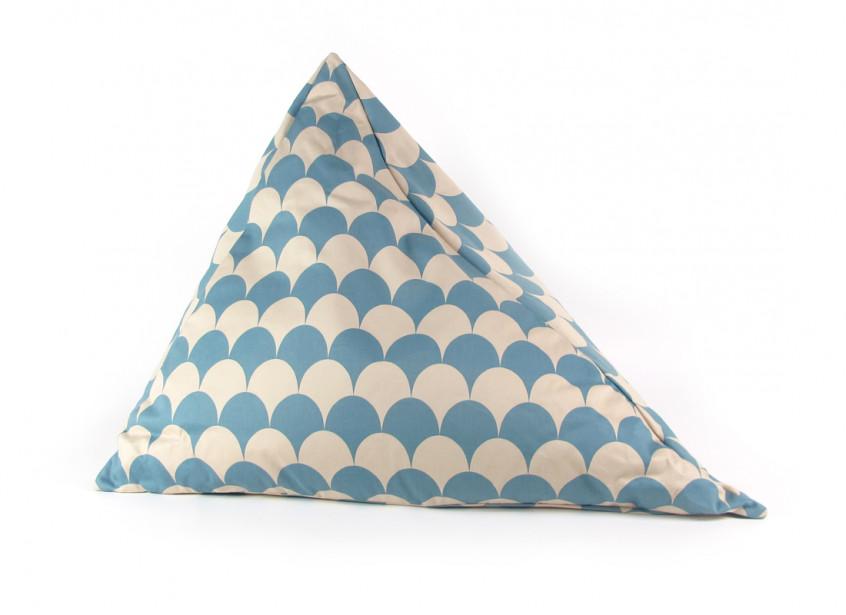 Puf Bamako escamas azules