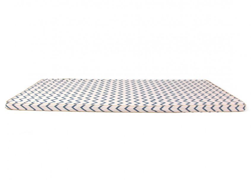 Colchoneta Saint Tropez • zigzag blue