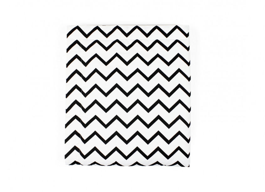 Manta copenhague zigzag negro -  3 tallas-S