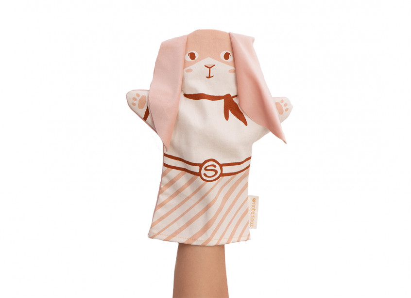 Bunny hand puppet