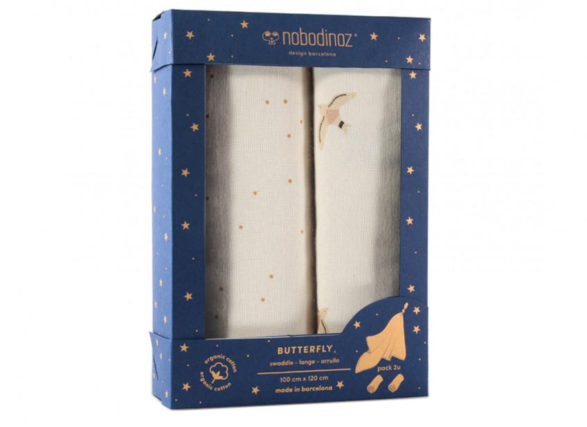 Caja de 2 muselinas Butterfly • haiku
