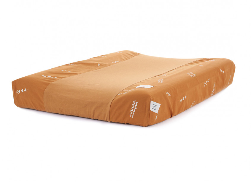 Cambiador impermeable Calma & funda 70X50 gold secret/ sunset