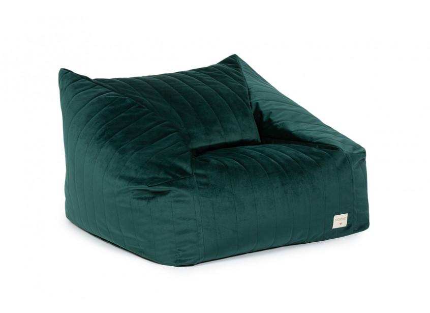 Chelsea sillón puf • velvet jungle green