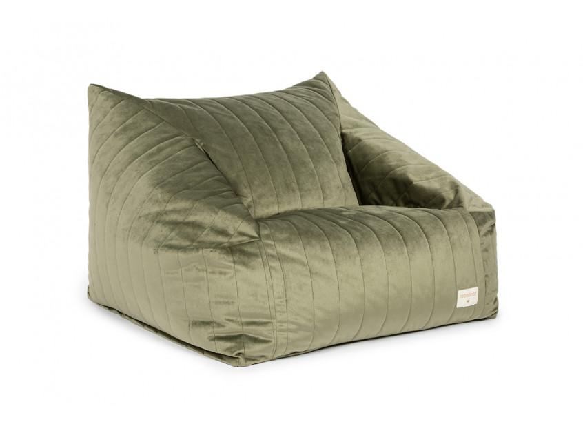 Chelsea sillón puf • velvet olive green